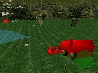 3D Egoshooter mit Hühnern als Gegner.