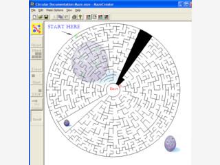Mit dem MazeCreator können Sie Labyrinthe in beliebiger Größe erstellen.