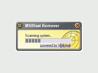 Sucht und beseitigt den MS32.Blast.Worm