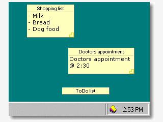 Verwaltet kleine Notizen auf Ihrem Desktop.
