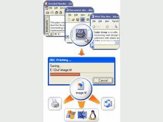 Konvertiert jedes druckbare Dokument in eine Grafikdatei