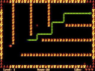 Grafisch einfacher Snake Clone mit mehr als 300 Level.