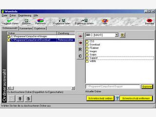 Spürt in Ordnern und auf Festplatten doppelte Dateien auf.