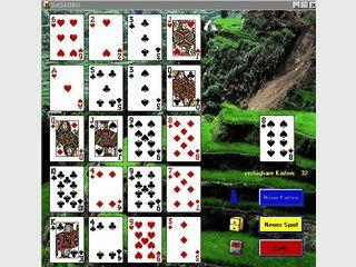 Kopfkarten und Asse auf der Spielfläche richtig platzieren.