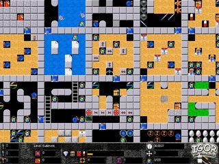 Spiel im Stile von Boulderdash und Supaplex