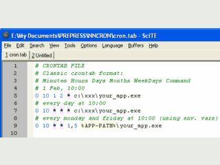 Task-Planer der komplett dem Unix Cron nachgebaut wurde.