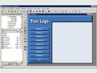 Erstellen Sie mit CDMenuPro Ihr professionelles CD ROM Autostart Menü.