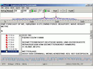 Eine Software zum Empfang von Wetterberichten und Navigationwarnungen.