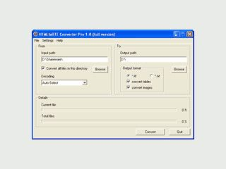 Konvertierung von HTML und ASP Seiten in RichTextFormat