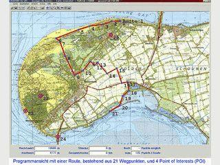 Software für alle gängigen GPS Handempfänger auf Basis gescannten Karten