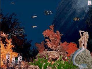 Ein fast realistisches Aquarium schont Ihren Bildschirm.