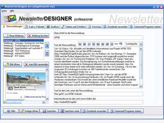 Software zur Erstellung von professionellen Newslettern