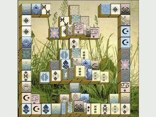 Mahjongg Spiel mit einfacher Grafik
