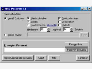Ein Programm zum Generieren von Paßwortlisten oder einzelnen Paßwörtern