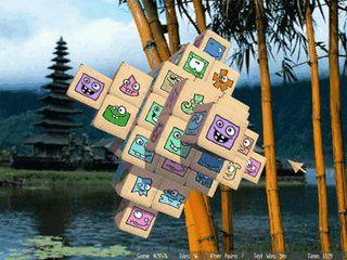 Gut gemachte 3D Variante des asiatischen Steinchen-Puzzles.