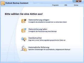 Mit dem Outlook Backup Assistant sichern Sie alle wichtigen Daten von MS Outlook