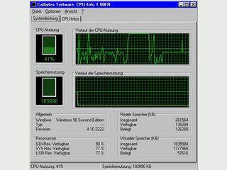 CPU-Infos auslesen und CPU-Auslastung anzeigen