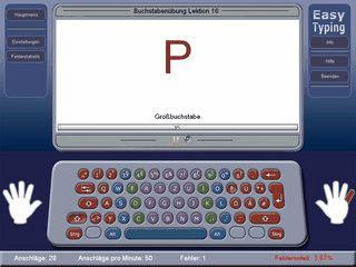 Mit Easy Typing lernen Sie effizient nach dem 10-Finger-System zu schreiben.