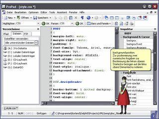 Editor für XML, PHP, HTML, CSS Dateien mit nützlichen Funktionen
