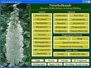 Datenbank über Naturheilkunde, Homöopathie und Farbtherapie.