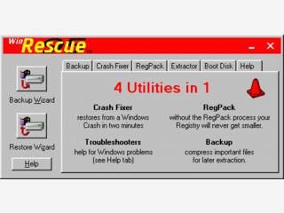 WinRescue sichert alle wichtigen Systemdateinen und Registryeinträge.