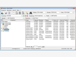 Arbeitszeiterfassung und Projektverwaltung mit umfangreichen Auswertungen