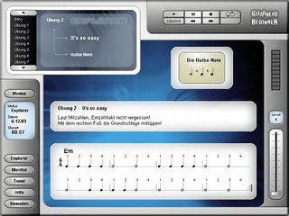 Gitarre lernen am PC - Software-Gitarren-Schule für Anfänger