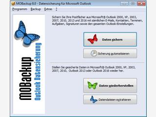 Backup Software zur Sicherung Ihrer Outlook Daten.