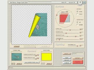 Grafikfilter zur Erzeugung von eingschlagenen bzw. umgeschlagenen Seiten.