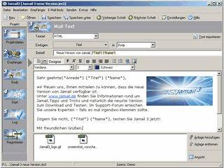 Serien eMail-Versand mit Import von ASCII und Excel Daten