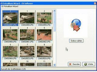 CK FotoAlbum Wizard erstellt aus Ihren Bildern ansehnliche Fotoalben.