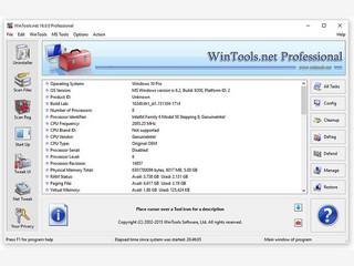 WinTool.net bietet eine sehr große Funktionsvielfalt zum Tuning von Windows.