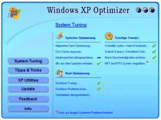 Registry Tuning und Tipps & Tricks für Windows XP
