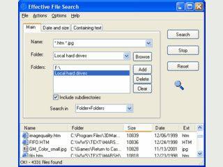 Suche nach Dateien auf dem PC und im lokalen Netzwerk.