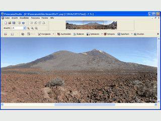 Erzeugung nahtloser 360° und Weitwinkelpanoramen aus einer Reihe Fotos