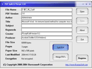PDF Dokumente aufteilen und zusammenfügen.