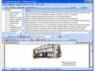 Software zur Erstellung von Schülerbeurteilungen