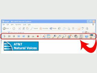 Toolbar die Ihnen Texte einer Webseite vorliest oder als MP3 speichert.