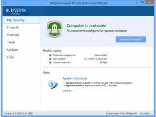 Firewall und Anti-Spyware-Paket zum Schutz Ihres Computers.