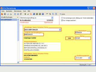 Schreibt Überweisungen und Lastschriften auf DTA-Diskette oder druckt sie aus.