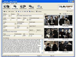 Verwaltung von Video-DVDs und VHS-Kassetten mit vielen Funktionen.