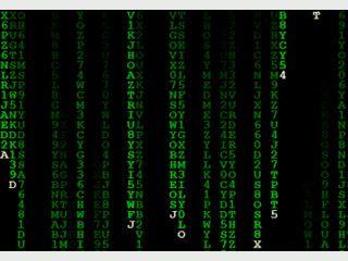 Bildschirmschoner der den Effekt aus dem Film Matrix nachahmt.