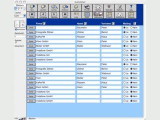 Adressdatenbank mit Korrespondenz und Mailingfunktion