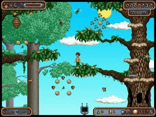 Gutes Jump'n Run mit vier verschiedenen Themenwelten je 5 Level.