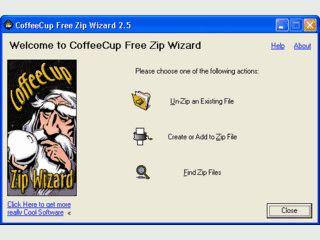 Wizard zum entpacken und packen von ZIP komprimierten Archiven.