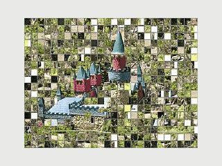 Zerlegt eigene Bilder in Puzzles mit rechteckigen Teilen.