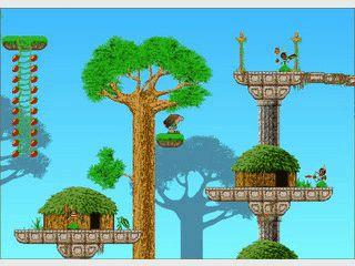 Lustiges Jump'n Run Spiel mit witziger Grafik und lustigen Goodies.