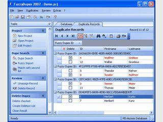 Umfangreiche Dublettensuche in Datenbanken, speziell Adressbestände.