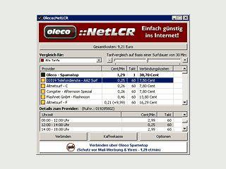 Least-Cost-Router mit Tarifratgeber und Gebührenzähler