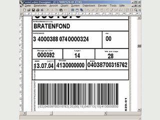 Software zur Erstellung von Barcode Etiketten.